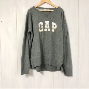 GAP Embroidered Logo Grey Pullover Sweater